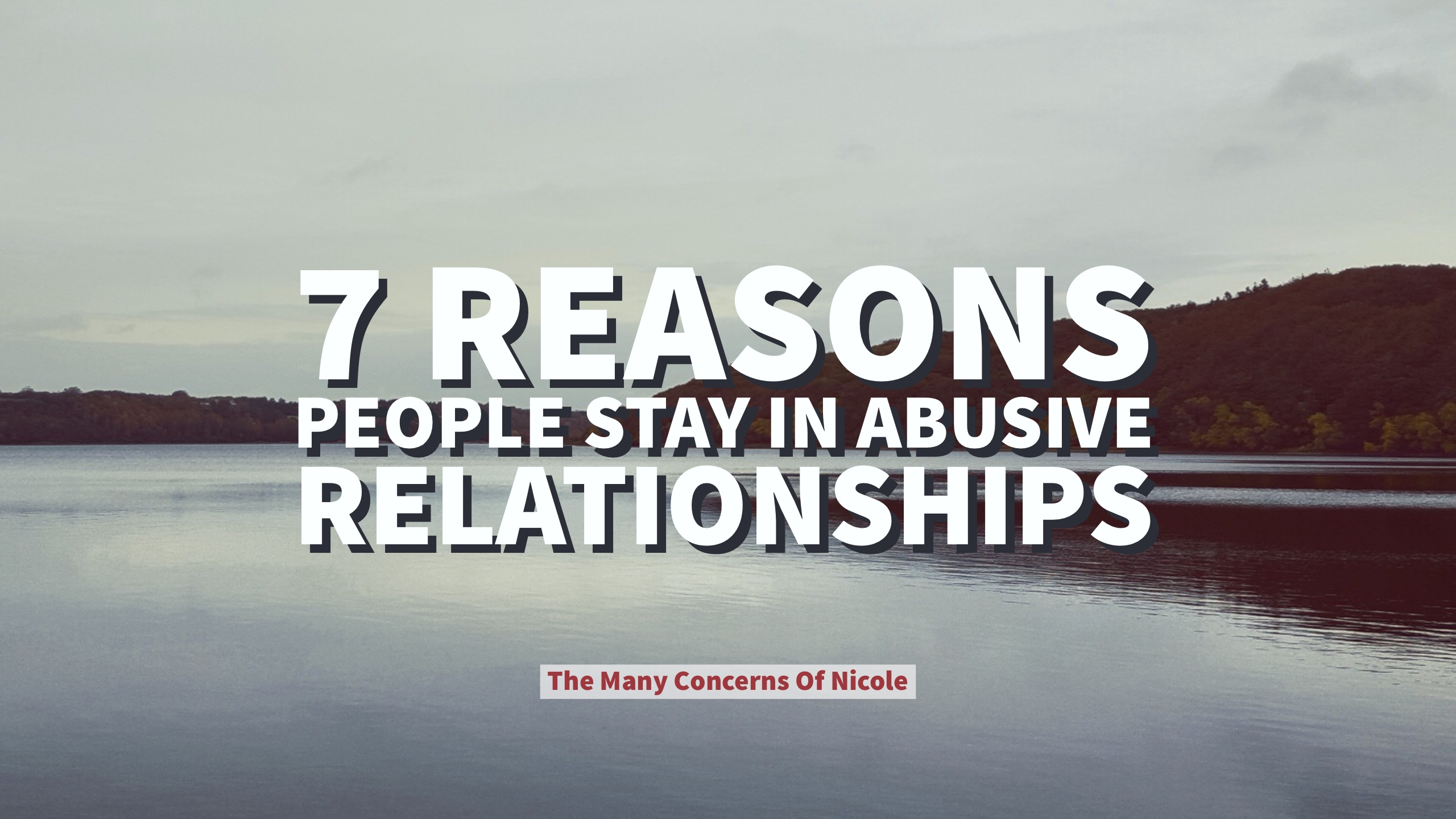 ROSALIE: Why do adults stay in abusive relationships