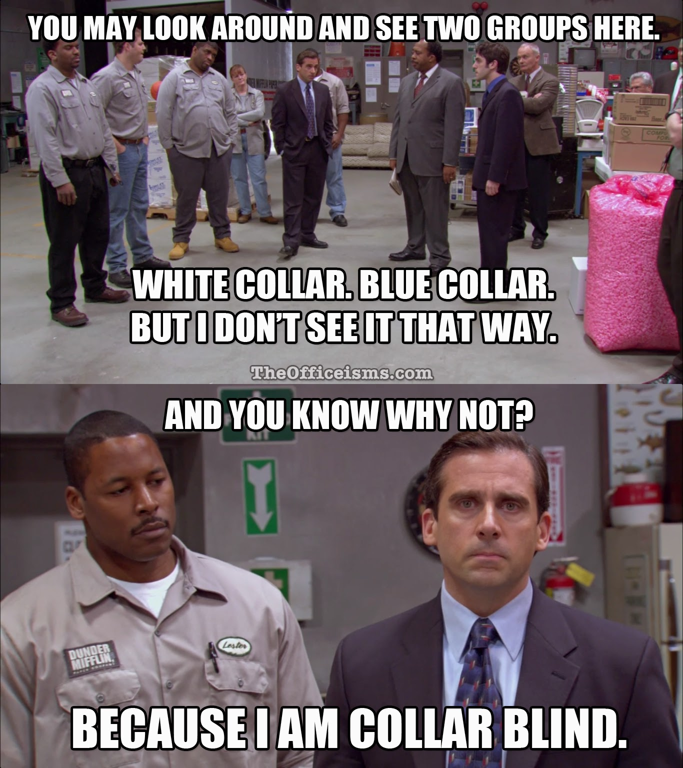 Collar Blind, The Office